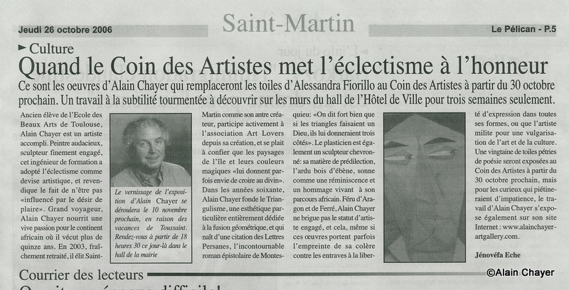 2006-10-26 Article LE PELICAN