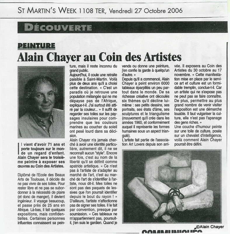 2006-10-27 Article ST MARTIN'S WEEK