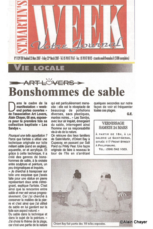 2007-03-23 Article ST MARTIN'S WEEK