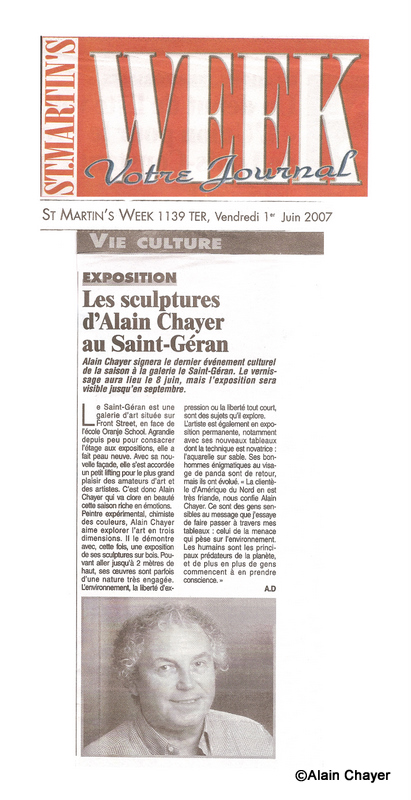 2007-06-01 Article ST MARTIN'S WEEK